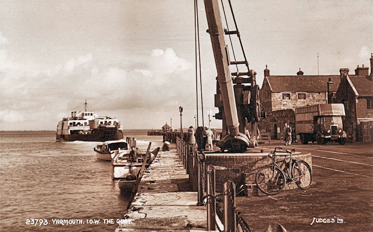 Farringford with Quay crane
