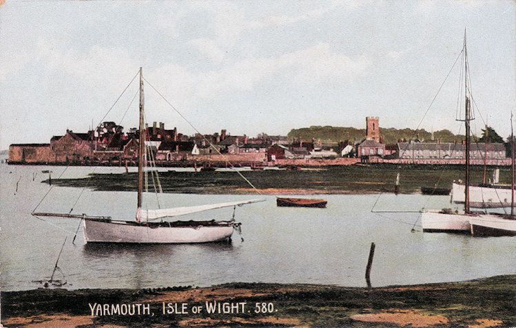 Yarmouth harbour towards the town 1910