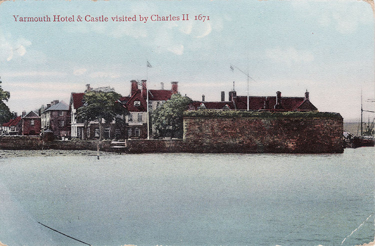 Yarmouth Castle from the sea, around 1910
