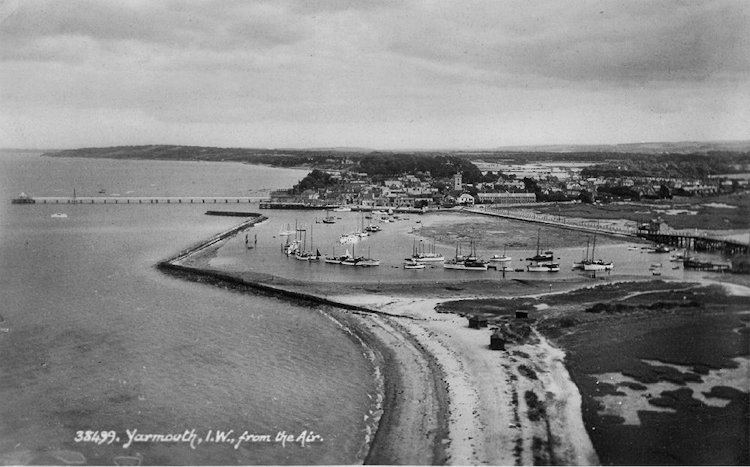 Arial view of Yarmouth